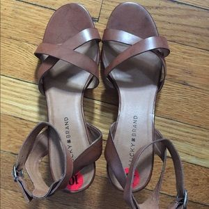 Lucky Brand Strap Sandals Size 10M